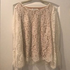 Rose and Olive lace top size medium